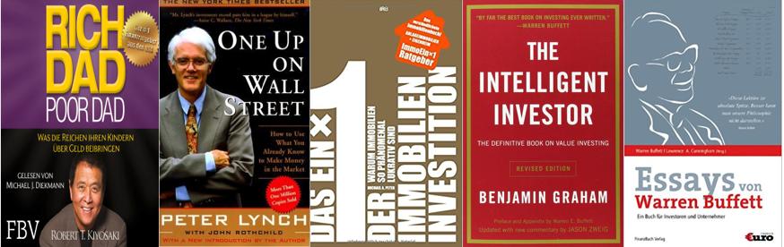 5 Bücher zum Thema Geldanlage